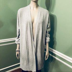 GAP- Gray Woven Pattern Open Cardigan, size L